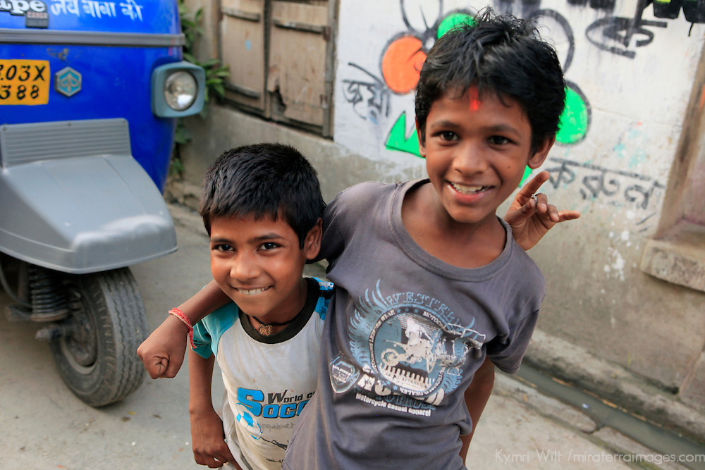 Asia, India, Calcutta. Young boys in Calcutta.