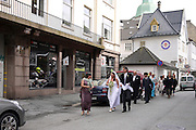 Bergen, Norway a wedding procession