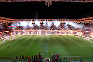 SYDNEY, AUSTRALIA - JULY 20: Pre Game during the club friendly football match between Leeds United and Western Sydney Wanderers FC on July 20, 2019 at Bankwest Stadium in Sydney, Australia. (Photo by Speed Media/Icon Sportswire)