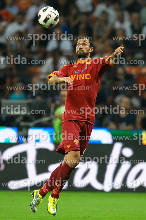 21.08.2010, Stadio Giuseppe Meazza, Mailand, ITA, Supercoppa Italiana 2010, Inter Mailand vs AS Rom, im Bild Mirko VUCINIC Roma.EXPA Pictures © 2010, PhotoCredit: EXPA/ InsideFoto/ Andrea Staccioli +++++ ATTENTION - FOR AUSTRIA AND SLOVENIA CLIENT ONLY +++++... / SPORTIDA PHOTO AGENCY