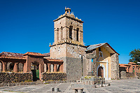 Santo Domingo Church in the peruvian Andes at Puno Peru