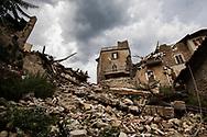 Arquata, Italia - il paese di Arquata totalmente raso al suolo dal terremoto.<br /> Ph. Roberto Salomone