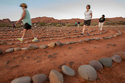 United States, Utah, Ivins, Red Mountain Resort, spiral meditation labyrinth.  PR