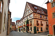 Germany, Bavaria, Rothenburg ob der Tauber The Medieval old town