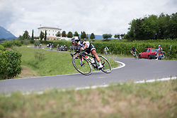Coryn Rivera (USA) of Team Sunweb leans into a corner on the descent from Ca' dell Poggio during Stage 3 of the Giro Rosa - a 100 km road race, between San Fior and San Vendemiano on July 2, 2017, in Treviso, Italy. (Photo by Balint Hamvas/Velofocus.com)