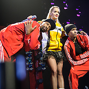 WASHINGTON, DC - December 15th, 2014 - Rita Ora performs onstage during HOT 99.5's Jingle Ball 2014 at the Verizon Center in Washington, D.C. (Photo By Kyle Gustafson / For The Washington Post)