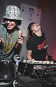 Female DJs Queens of Noize dancing, UK 2000's