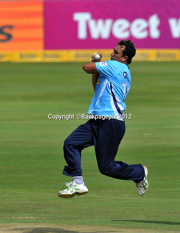 Azhar Mahmood of Auckland Aces during the 2012 Champions League Twenty20 cricket match between the Perth Scorchers and the Auckland Aces at Supersport Park in Centurion, South Africa on 23 October 2012 ©Chris Ricco/BackpagePix