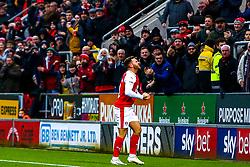 Jon Taylor of Rotherham United celebrates his equaliser with Rotherham United fans - Mandatory by-line: Ryan Crockett/JMP - 19/01/2019 - FOOTBALL - Aesseal New York Stadium - Rotherham, England - Rotherham United v Brentford - Sky Bet Championship