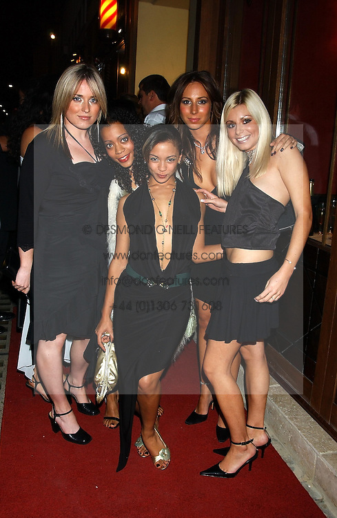 New girl band Elle 13 at a party to celebrate the opening of Ishtar - a new mediterainian restaurant in Crawford Street, London W1 on 15th September 2004.<br />