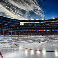 01 January 2015:  A 14 frame HDR image at Nationals Park in Washington, D.C. during  the Winter Classic where the Washington Capitals defeated the Chicago Blackhawks, 3-2.  (Photograph by Mark Goldman - Goldminephotos)