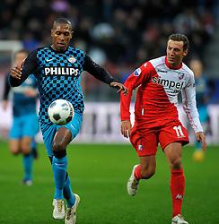 22-01-2012 VOETBAL: FC UTRECHT - PSV: UTRECHT<br /> Utrecht speelt gelijk tegen PSV 1-1 / (L-R) Marcelo, Alexander Gerndt<br /> ©2012-FotoHoogendoorn.nl