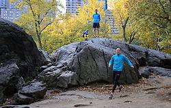 02-11-2013 ALGEMEEN: BVDGF NY MARATHON: NEW YORK <br /> Parcours verkenning en laatste training in het Central Park / Jeroen<br /> ©2013-FotoHoogendoorn.nl