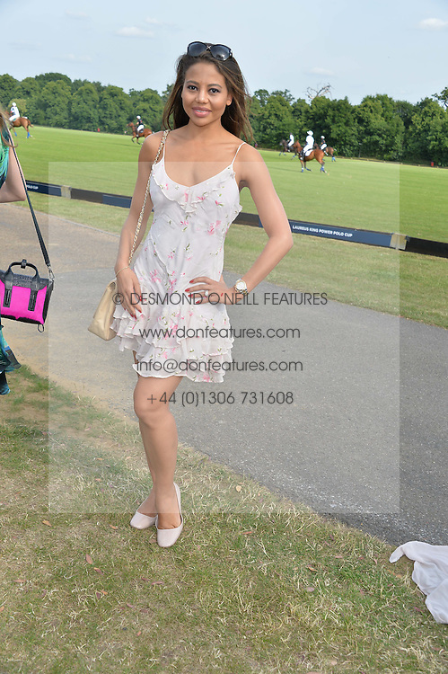 VISCOUNTESS WEYMOUTH at the Laureus Polo held at Ham Polo Club, Ham, Richmond, Surrey on 18th June 2015.