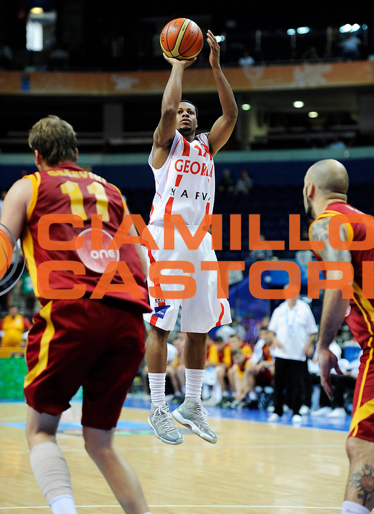 DESCRIZIONE : Vilnius Lithuania Lituania Eurobasket Men 2011 Second Round Georgia Macedonia Georgia FYR of Macedonia<br /> GIOCATORE : Marquez Haynes <br /> SQUADRA : Georgia<br /> EVENTO : Eurobasket Men 2011<br /> GARA : Georgia Macedonia Georgia FYR of Macedonia<br /> DATA : 08/09/2011 <br /> CATEGORIA : tiro shot<br /> SPORT : Pallacanestro <br /> AUTORE : Agenzia Ciamillo-Castoria/JF.Molliere<br /> Galleria : Eurobasket Men 2011 <br /> Fotonotizia : Vilnius Lithuania Lituania Eurobasket Men 2011 Second Round Georgia Macedonia Georgia FYR of Macedonia<br /> Predefinita :