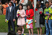 On Queensday, april 30th the Queen attends the celebrations of Queensday in Scheveningen near the Hague.<br /> This is her 25th jubilee.<br /> <br /> Op Koninginnedag, 30 april, is de Koningin  's Middags aanwezig metn en haar familie het koninginnedagfeest mee te vierten in Scheveningen.<br /> <br /> On The photo / On the Photo;<br /> <br /> Prince Bernhard, Princes Annette,  Anita van Eijk en Princes Marilène / Prins Bernhard, Prinses Annette,  Anita van Eijk en Prinses Marilène