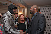 GREGORY PORTER; LENNY HENRY, The Sky South Bank Arts Awards, Dorchester Hotel , Park Lane, London. 1 May 2012.