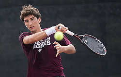Ohio State vs. Texas A&M in an NCAA college tennis match, Saturday, March 18, 2017, in College Station, Texas.