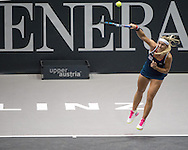 Dominika Cibulkova (SVK) during the finals of the WTA Generali Ladies Linz Open at TipsArena, Linz<br /> Picture by EXPA Pictures/Focus Images Ltd 07814482222<br /> 16/10/2016<br /> *** UK &amp; IRELAND ONLY ***<br /> <br /> EXPA-REI-161016-5009.jpg