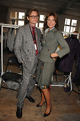 HAMISH BOWLES and NATALIE MASSENET Founder of Net-a-porter.com at Fashion Fringe 2007 held at 1 The Piazza, Covent Garden, London on 20th September 2007.<br />
