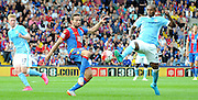 Yohan Cabaye goes in for the challenge during the Barclays Premier League match between Crystal Palace and Manchester City at Selhurst Park, London, England on 12 September 2015. Photo by Michael Hulf.
