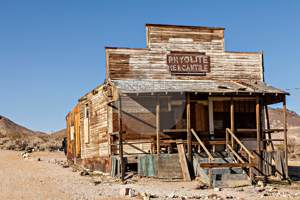 Old general store in the ghost town of Rhyolite, NV.