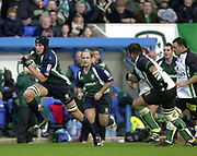 14/12/2003 - Photo  Peter Spurrier.2003/04 Parker Pen Challenge  Cup: London Irish vs Montauban.Nick Kennedy. leads the Exiles attack, breaking from mid field.   [Mandatory Credit, Peter Spurier/ Intersport Images].