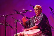 African Song / New Contexts - Philadelphia Folklore Project concert at World Cafe Live - <br /> <br /> Greeting and Libation by Nana Korantemaa Ayeboafo  with Kwame Asuo and Kweku Menu, <br /> <br /> World premiere performance by Tharo ( Mogauwane Mahloele, D. Hotep, Bobby Zankel ) <br /> <br /> Zaye Tete and Ensemble ( Marcus Susay, Chuku Comgbaye, Lawrence Walters, Markia Susay, Mina Wilson, Gbahtuo Comgbaye ) <br /> <br /> Princess Fatu Gayflor and Ensemble ( J. Blamoh Doe, Fernon E. Flomo, Albert Gibson, Khata Soribah, Victoria Tweh, Zinnah Cooper )<br /> <br /> and special recognition of Liberian Performing Artists<br /> <br /> Photo must be credited to &quot;Jacques-Jean Tiziou / www.jjtiziou.net&quot; adjacent to the image. Online credits should link to www.jjtiziou.net. Photo may only be used as permitted by the photographer.