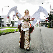 Cosplayer at Animefest 2015 in the city of Brno, czech republic.