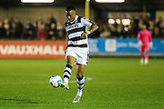 Forest Green Rovers Keanu Marsh-Brown(7) on the ball during the Vanarama National League match between Solihull Moors and Forest Green Rovers at the Automated Technology Group Stadium, Solihull, United Kingdom on 25 October 2016. Photo by Shane Healey.