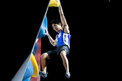 Tomoa Narasaki of Japan during Men's combined Final at the IFSC Climbing World Championships Innsbruck 2018, on September 16, 2018 in OlympiaWorld Innsbruck, Austria, Slovenia. Photo by Urban Urbanc / Sportida