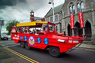 Dublin, Ireland, July 2006. An amphibious vehicle of Viking Splash Tours, tours Dublin. The city of Dublin is an attactive combination of colorful pubs with life music and good food, mixed with modern architecture and traditional buildings. Photo by Frits Meyst/Adventure4ever.com
