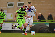 Forest Green Rovers midfielder Liam Noble (15) on the attack 0-0 during the Vanarama National League match between Forest Green Rovers and Dagenham and Redbridge at the New Lawn, Forest Green, United Kingdom on 29 October 2016. Photo by Alan Franklin.