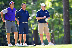 Pat Narduzzi and John Congemi during the Chick-fil-A Peach Bowl Challenge at the Oconee Golf Course at Reynolds Plantation, Sunday, May 1, 2018, in Greensboro, Georgia. (Dale Zanine via Abell Images for Chick-fil-A Peach Bowl Challenge)