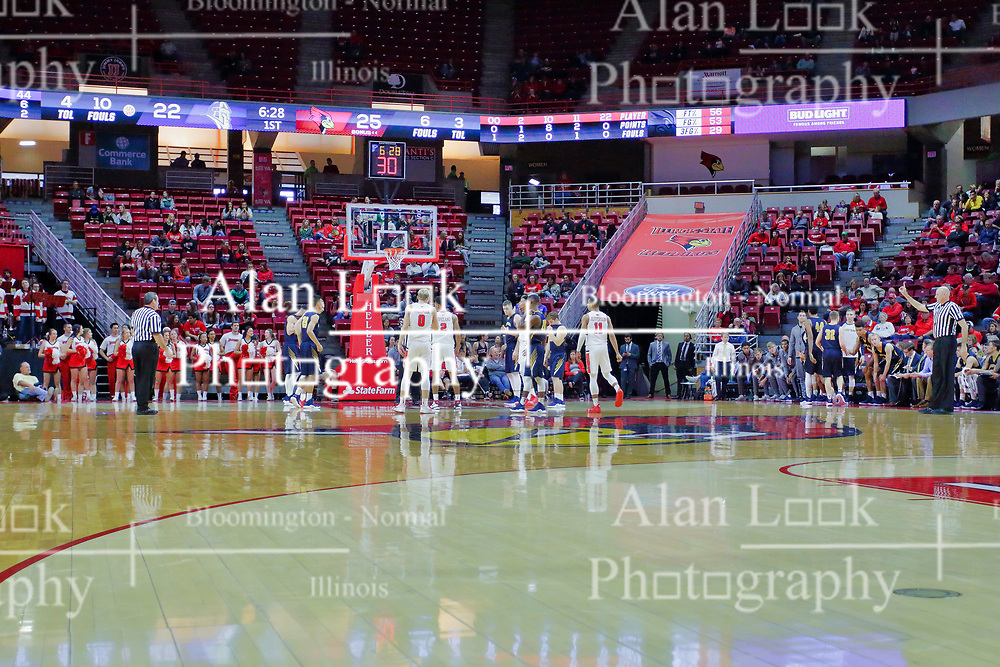 NORMAL, IL - November 03: Zach Copeland at the free throw line during a college basketball game between the ISU Redbirds  and the Augustana Vikings on November 03 2018 at Redbird Arena in Normal, IL. (Photo by Alan Look)