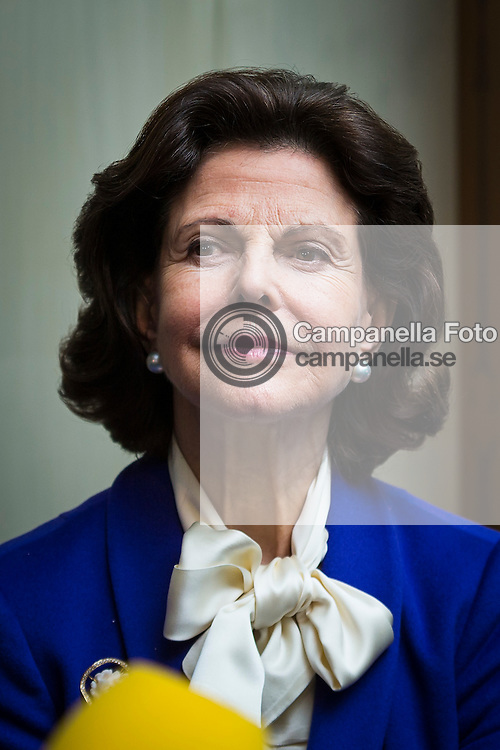 STOCKHOLM, SWEDEN - DECEMBER 21: Queen Silvia of Sweden attends the opening of the exhibition 'In Course of Time, 400 Years Of Royal Clocks'  at the Royal Palace on January 22, 2016 in Stockholm, Sweden. (Photo by Michael Campanella/Getty Images)
