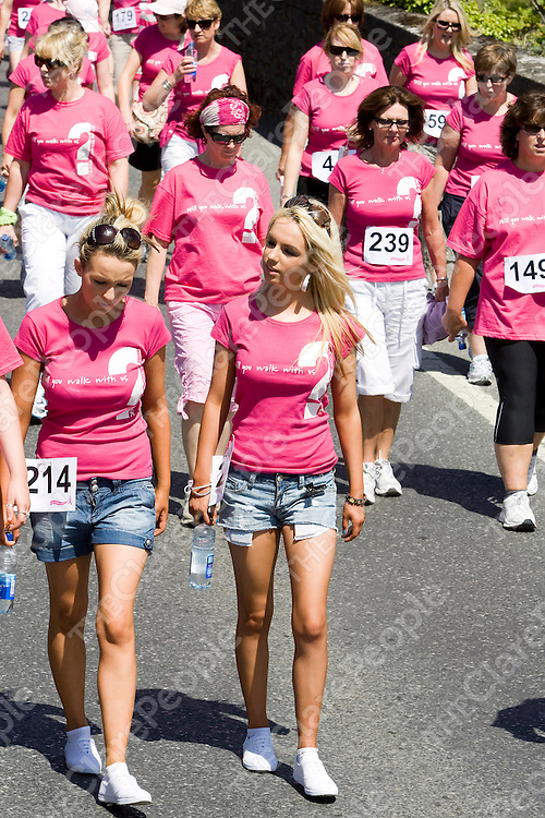 NO REPRO FEES...<br /> Shauna and Katie O'Dwyer,Corbally Limerick during the Pink Ribbon 'Walk by the Lough' on June 19th in the Shannonside sister towns of Killaloe/Ballina in aid of Action Breast Cancer.Pic Arthur Ellis/Press22.
