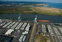 Aerial view of Port of Wilmington DE