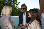 VIRGINIA BATES; DAISY BATES; RHYS IFANS, Opening of the 2008 Frank Gehry Serpentine Pavilion. Kensington Gardens. London. 21 July 2008 *** Local Caption *** -DO NOT ARCHIVE-© Copyright Photograph by Dafydd Jones. 248 Clapham Rd. London SW9 0PZ. Tel 0207 820 0771. www.dafjones.com.
