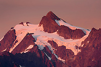 Alpenglow on Mount Shuksan, 9,131 ft (2,783 m) North Cascades washington