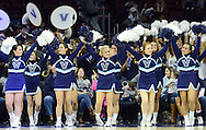 Cheerleaders perform in the first half Saturday, November 5, 2016 at the Wells Fargo Center in Philadelphia, Pennsylvania. (WILLIAM THOMAS CAIN / For The Philadelphia Inquirer)