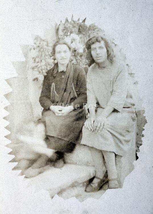 two women casual posing rural France