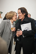 ANNABELLE SELLDORF; JANE WITHERS , Editor of Wallpaper: Tony Chambers and architect Annabelle Selldorf host drinks to celebrate the collaboration between the architect and three of Savile Row's finest: Hardy Amies, Spencer hart and Richard James. Hauser and Wirth Gallery. ( Current show Isa Genzken. ) savile Row. London. 9 January 2012.