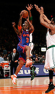Stephon Marbury of the New York Knicks goes to the basket against the Boston Celtics at Madison Square Garden in New York City. Sunday 04 December 2005 The Knicks won the game 102-99 Photo by Andrew Gombert for the New York Times