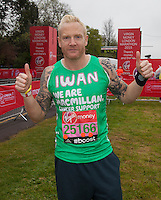 Former athlete Iwan Thomas photographed at the celebrity start of the Virgin Money London Marathon 2015, Sunday 26th April 2015<br /> <br /> Roger Allen for Virgin Money London Marathon<br /> <br /> For more information please contact Penny Dain at pennyd@london-marathon.co.uk