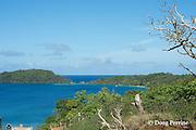Hunga Lagoon, with Hunga Island on right and Kalau Island on left, view from Hunga Village pier, Hunga Island, Vava'u, Kingdom of Tonga, South Pacific
