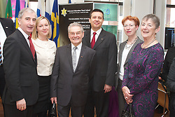 """""""To mark the anniversary of the liberation of the Bergen-Belsen concentration camp, Holocaust survivor Tomi Reichental will relate his personal experiences in an event organised by the European Parliament Office in Ireland together with the Holocaust Education Trust Ireland on Friday 19 April from 10.00 am-12.30pm."""" at The European Parliament Office, 43 Molesworth Street, Dublin 2, Ireland.Francis Jacobs, Head of the European Parliament Information Office in Ireland and Holocaust Education Trust Ireland....To mark the anniversary of the liberation of the Bergen- Belsen concentration camp.with Holocaust survivor, Tomi Reichental, .Francis Jacobs, Head of the European Parliament Information Office in Ireland and Holocaust Education Trust Ireland.Ruairi Quinn TD, Minister for Education and Skills,.Lucinda Creighton TD, Minister of State for European Affairs,.Gay Mitchell MEP, .Mary Banotti, founding trustee, HETI,...Tomi Reichental was born in Piestany, Slovakia in 1935 and was nine years old when he was captured by the Nazis in 1944.  He was deported to Bergen-Belsen concentration camp along with his mother, brother, grandmother, aunt and cousin.  His parents, brother, aunt and cousin survived the war, but his grandmother passed away in Belsen. Thirty five members of Tomi's family perished in the Holocaust.   ..'I Was A Boy in Belsen', Tomi's memoir, was published in  2011 and his story made into an award winning film by director Gerry Gregg.  Tomi has lived in Ireland since 1959 and regularly talks to Irish schools about his wartime experiences.."""