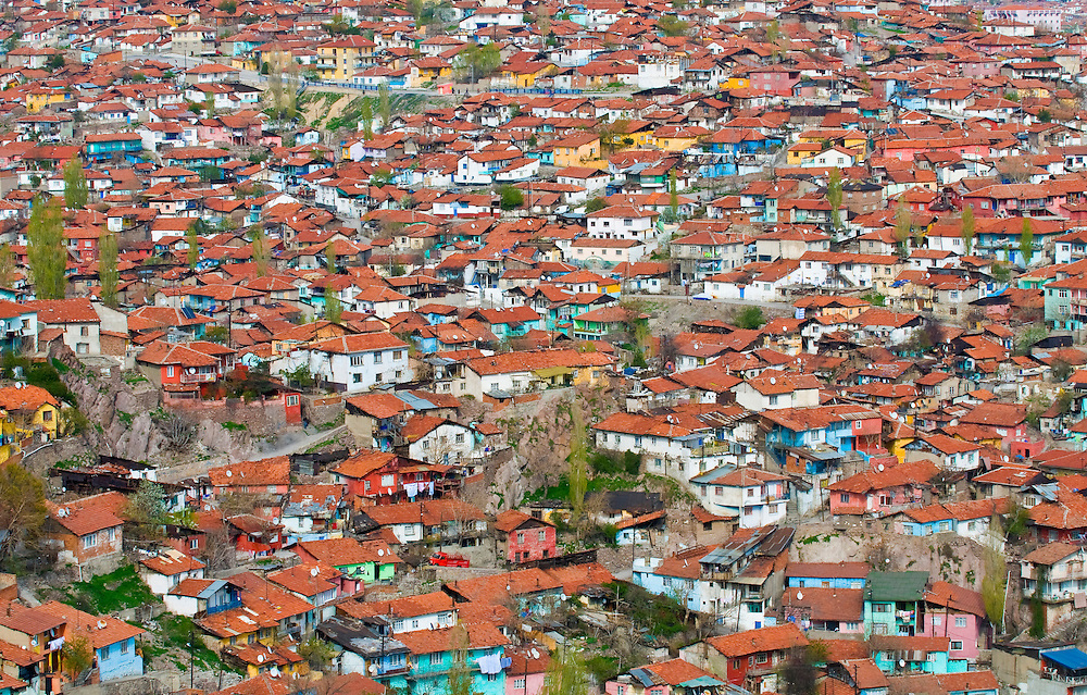 density neighbourhood in Ankara the capital city of Turke