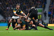 South Africa flanker Schalk Burgerduring the Rugby World Cup Semi-Final match between South Africa and New Zealand at Twickenham, Richmond, United Kingdom on 24 October 2015. Photo by David Charbit.