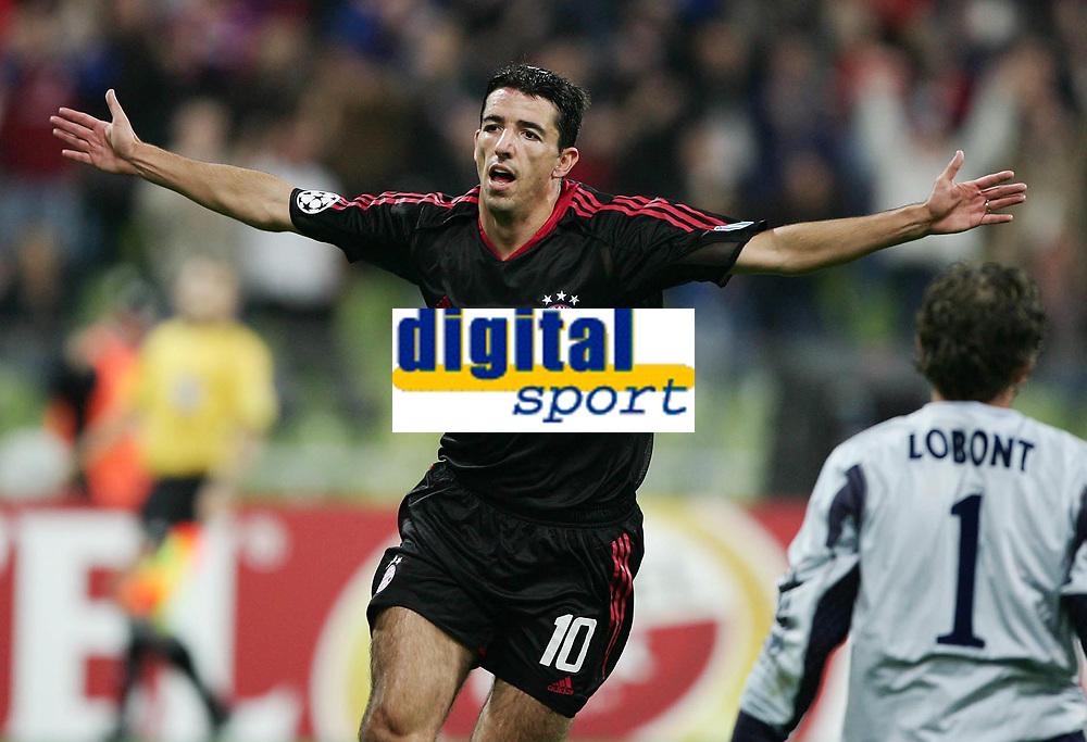 Fotball ,28. september 2004, Champions League,  <br />  FC Bayern München - Ajax Amsterdam<br /> 1:0 Jubel  Roy Makaay